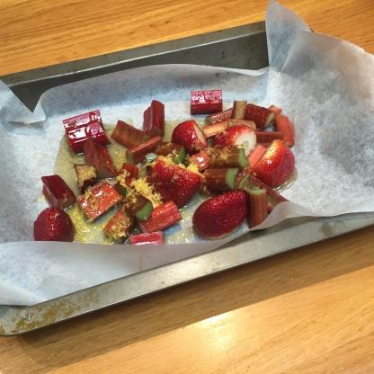 Strawberry Rhubarb Prep